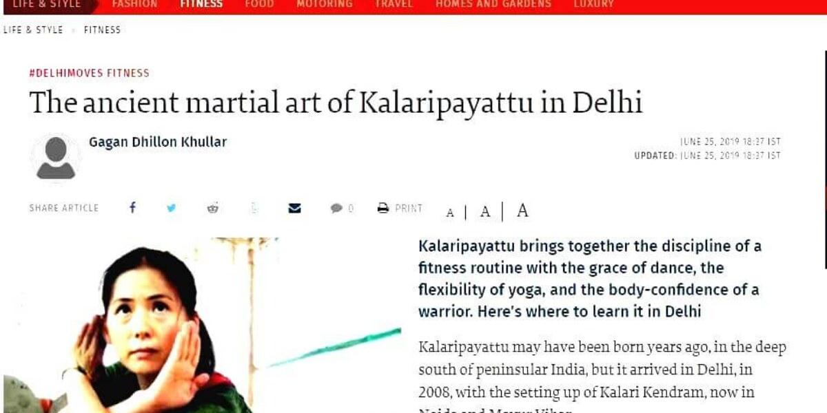 Kalaripayattu in Delhi by The Hindu