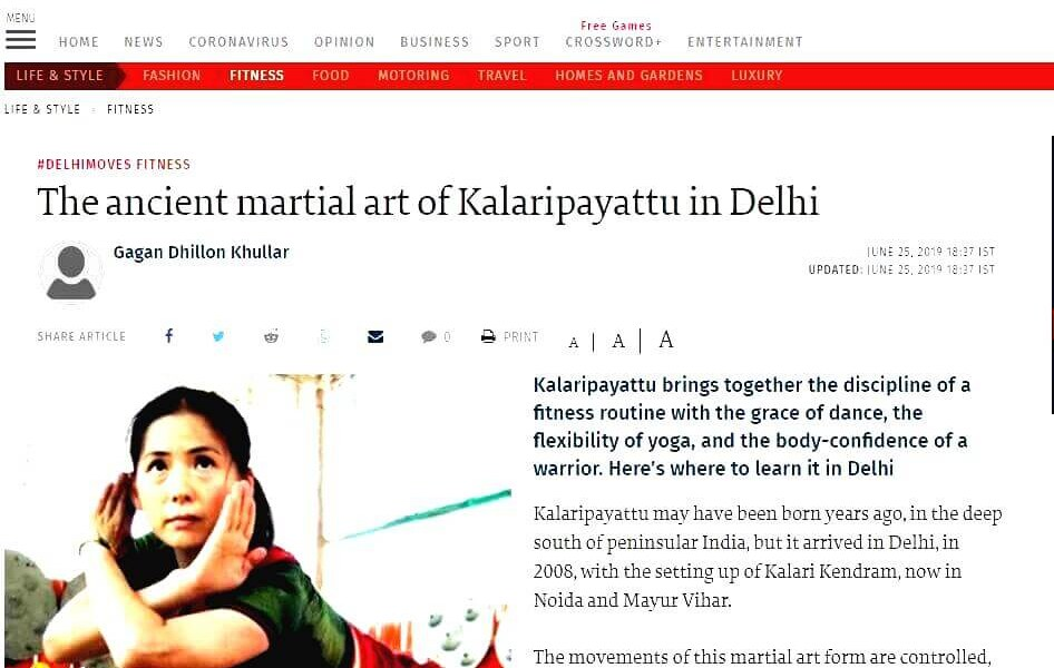 Kalaripayattu in Delhi by The Hindu